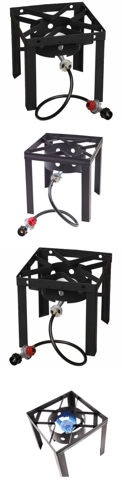 Other Camping Cooking Supplies 16036: Portable Stove Propane Single Gas Burner Fryer Stand Outdoor Cooking Camping Bbq BUY IT NOW ONLY: $54.99