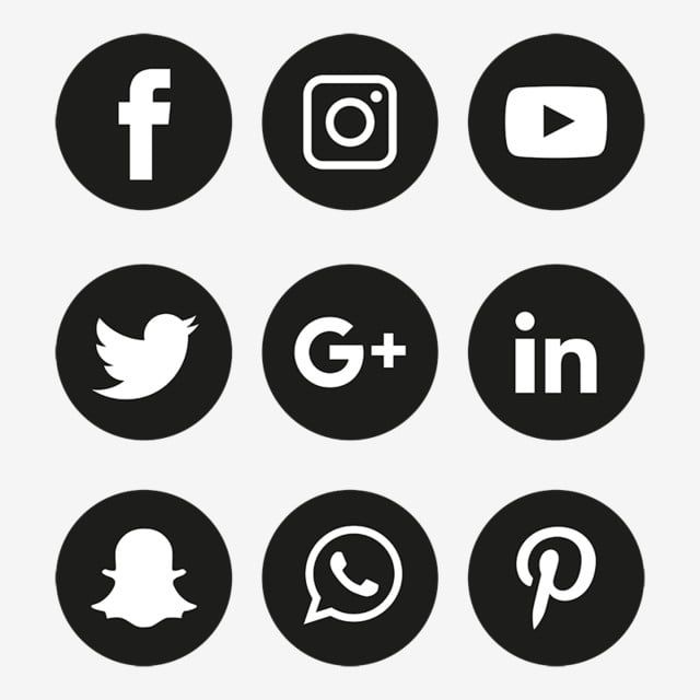 Social Media Icons Set Logo Vector Illustrator Free Logo Design Template Logo Clipart Social Icons Logo Icons Png And Vector With Transparent Background For Social Media Icons Free Social Media