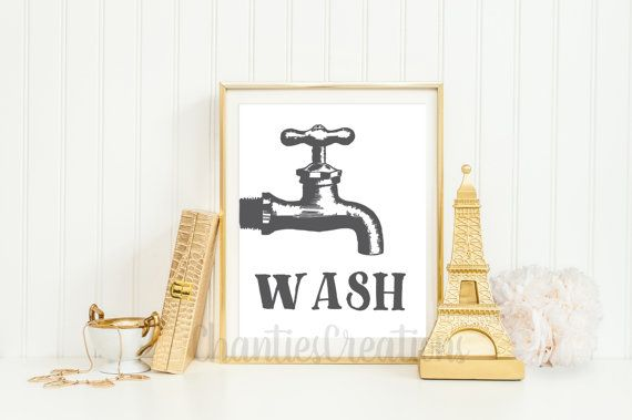 INSTANT DOWNLOAD  Wash Bathroom Printable Available as a Printable order only…