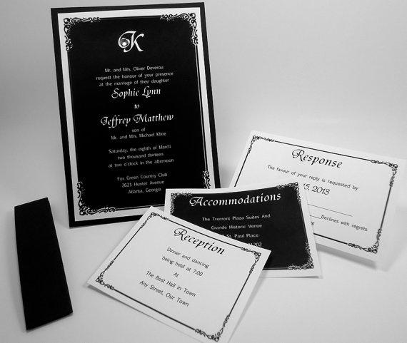 16 best wedding invitations images on pinterest invites card wedding invitation black and white invites 5x7 with 3 by mazoria 300 stopboris Choice Image