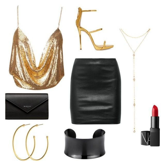 """""""Untitled #50"""" by parvanitagis on Polyvore featuring The Row, Giuseppe Zanotti, Balenciaga, Fragments, Dyrberg/Kern and NARS Cosmetics"""