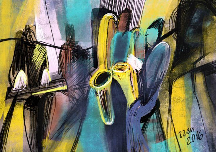 Jazz. Digital painting.