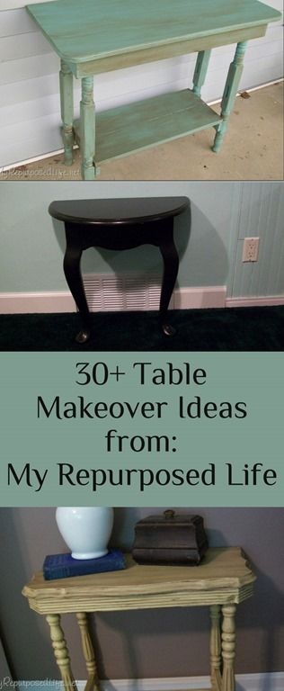 repurposed furniture ideas | hope you found something to inspire you to rescue a table, or pick ...