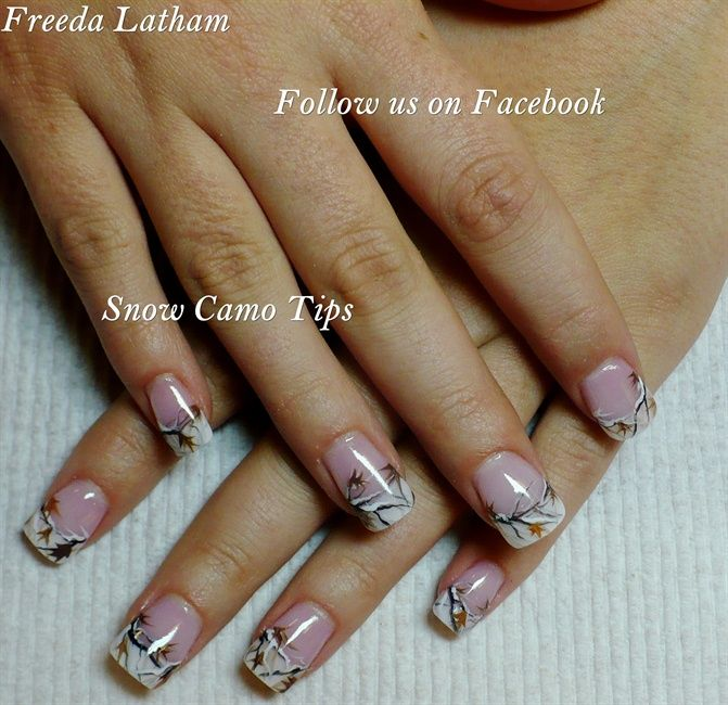 Snow Camo tips - Nail Art Gallery