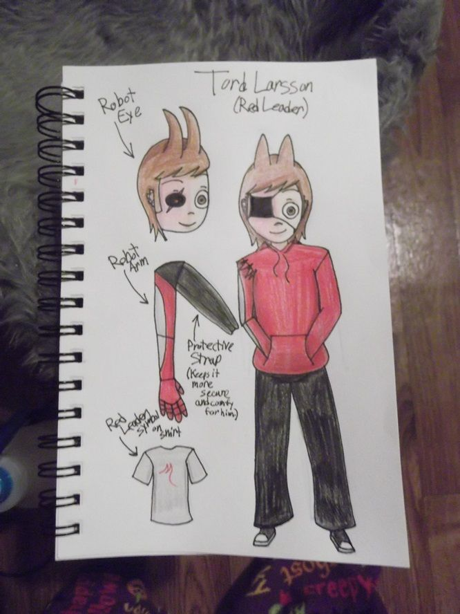 Tord Character Sheet by Lazybones. This is for my Eddsworld AU. Feel free to use it as a reference.