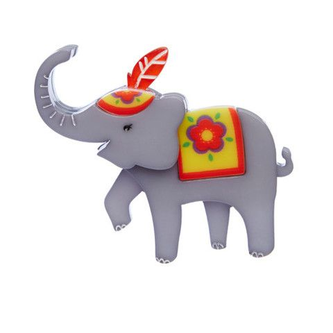 """Erstwilder Limited Edition Have Trunk Will Travel Brooch. """"We will kindly refer you to the position of this Elephants trunk. A good day to travel we think."""""""