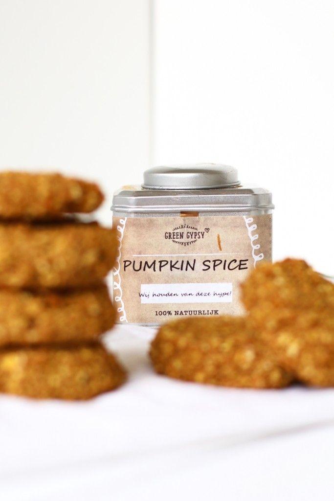 Havermout ontbijt koekjes met pompoen, Glutenvrije koekjes, Glutenvrije en suikervrije koekjes, Herfst koekjes met pumpkin spice