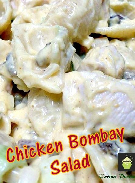 Chicken Bombay Salad A delicious, popular salad, easy and quick too!  #salad #chicken #easyrecipe