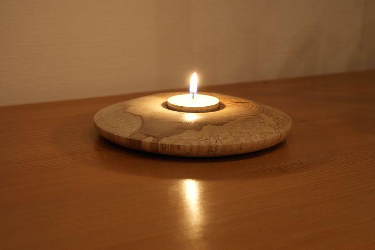 photophore en bois tourné essences diverses, bouleau, merisier, frêne : Luminaires par tournerond