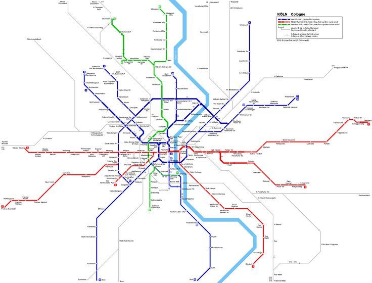 Köln Stadtbahn Netzplan Light Rail Map © R. Schwandl