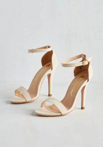 Girl's Night Game Plan Heel in Vanilla - High, Cream, Solid, Prom, Wedding, Homecoming, Minimal, Good