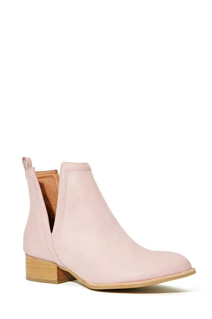 b6117371909 Jeffrey Campbell Muskrat Leather Boot - Blush - Jeffrey Campbell ...
