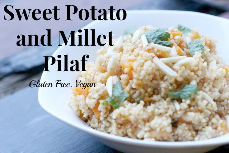 Millet is a gluten-free and protein rich grain that you need to try. Try this pilaf recipe as a side dish, or to make it a meal serve with tofu, chickpeas, or chicken. #vegan #vegetarian #glutenfree