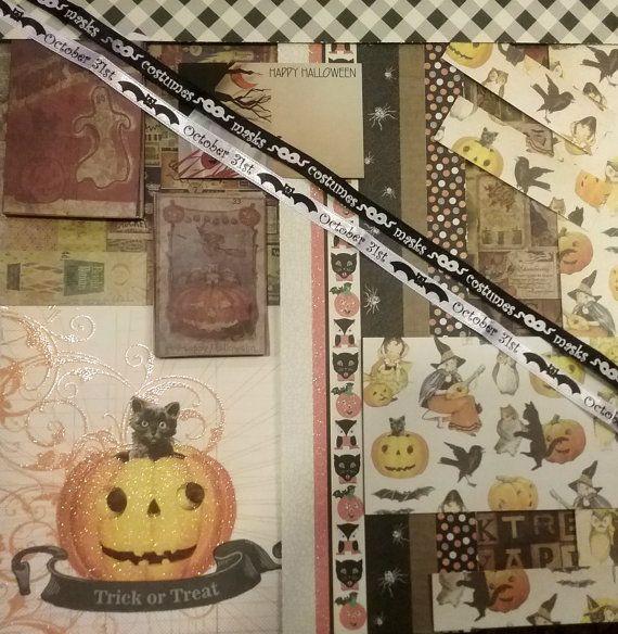Halloween Scrap Paper Pack Halloween Scrapbooking Paper