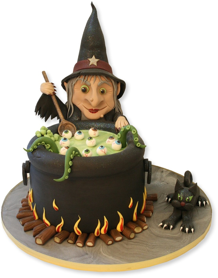 Witches Cauldron Cake by The Cake Store, London. For real? It doesn't get any cooler than this!