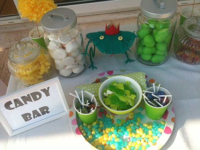 Marshmallows, jelly beans, lollipops and the big jello frogs made a hit!