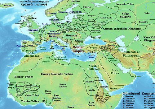 map of eastern hemisphere labeled
