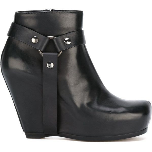 17 Best ideas about Black Wedge Ankle Boots on Pinterest | Black ...