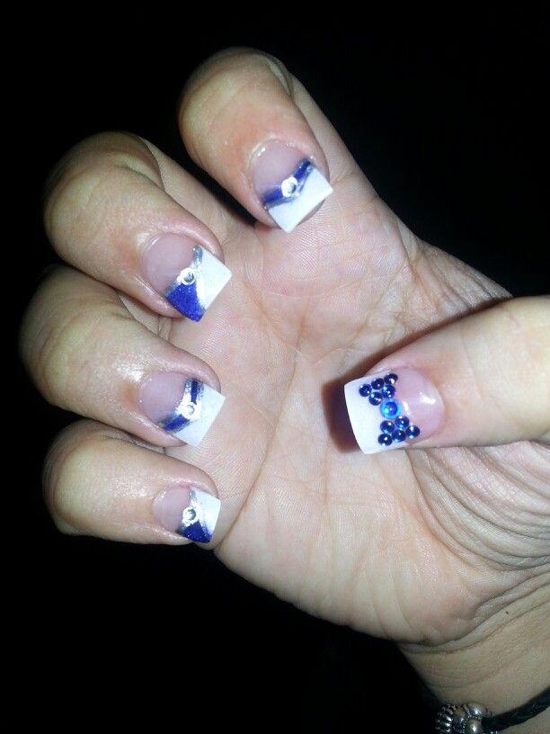 dallas cowboys nail design