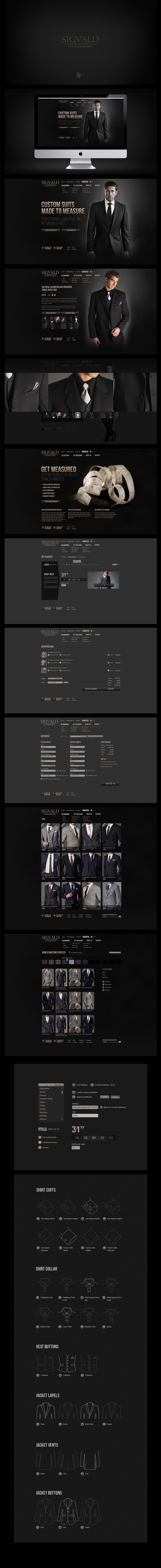 Made to Measure Suits by Alexey Masalov, via #Behance #Webdesign