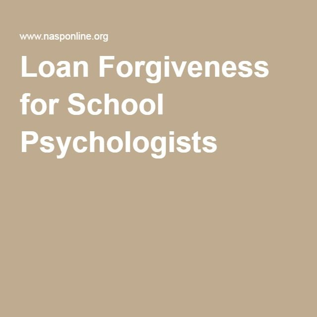 Loan Forgiveness for School Psychologists