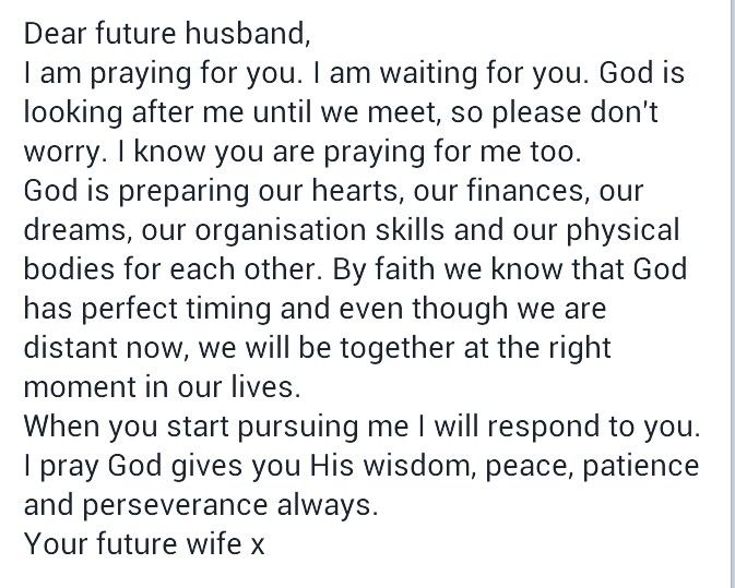 prayer to meet your future husband music video