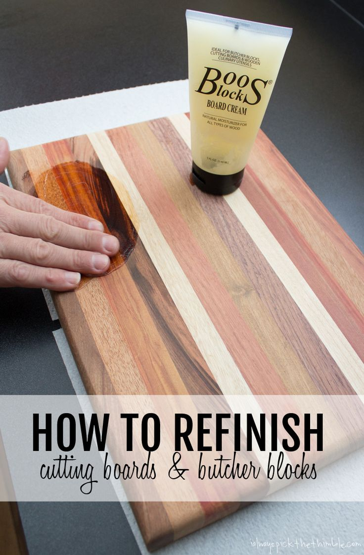How to sand and refinish a cutting board - wow! what a difference!