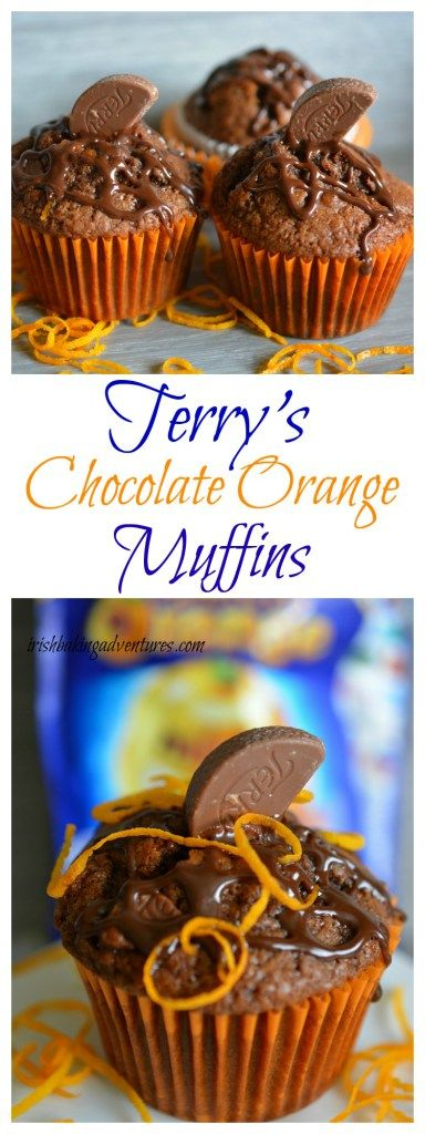 TERRY'S CHOC ORANGE MUFFINS - These heavenly chocolate muffins are a scrumptious partnership of chocolate & orange, simple to make. ABSOLUTELY CHOCOLICIOUS