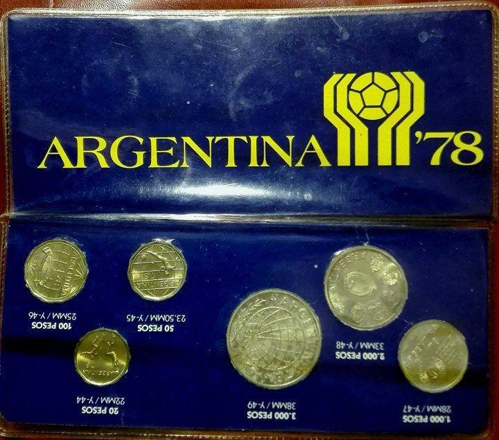 Argentina Soccer World Cup 1978 6 Coins  Set1977    eBay