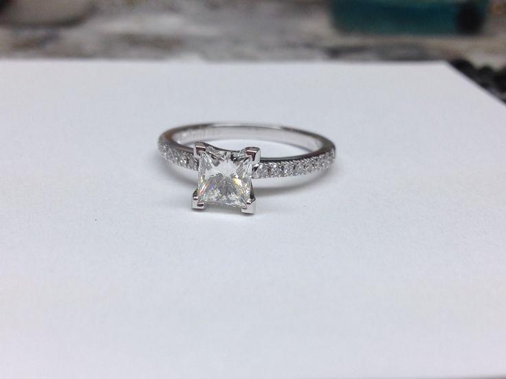 Princess cut diamond engagement ring www.abrahamsjewellery.com