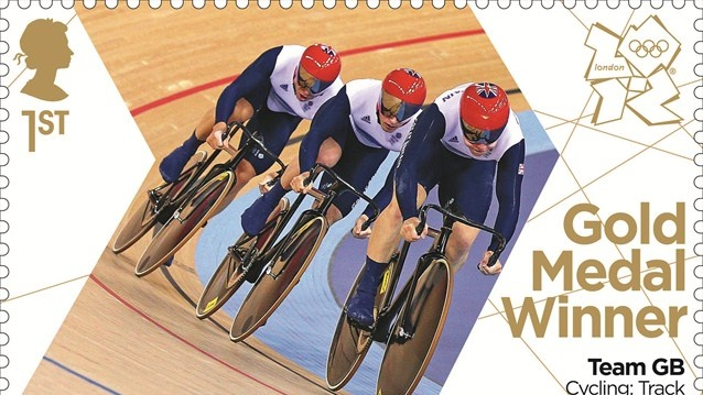Team GB Cycling Sprint gold stamp