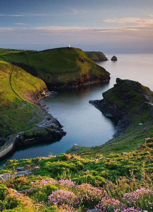 Cornwall, England  enchantedengland: This is Boscastle Harbour, a village and fishing port on Cornwall's northern coast, 5 miles (8 km) north-east of Tintagel.  Boscastle. The village is a popular tourist destination, where attractions such as the Museum of Witchcraft and the Boscastle pottery shop await, along with access to the South West Coast Path.