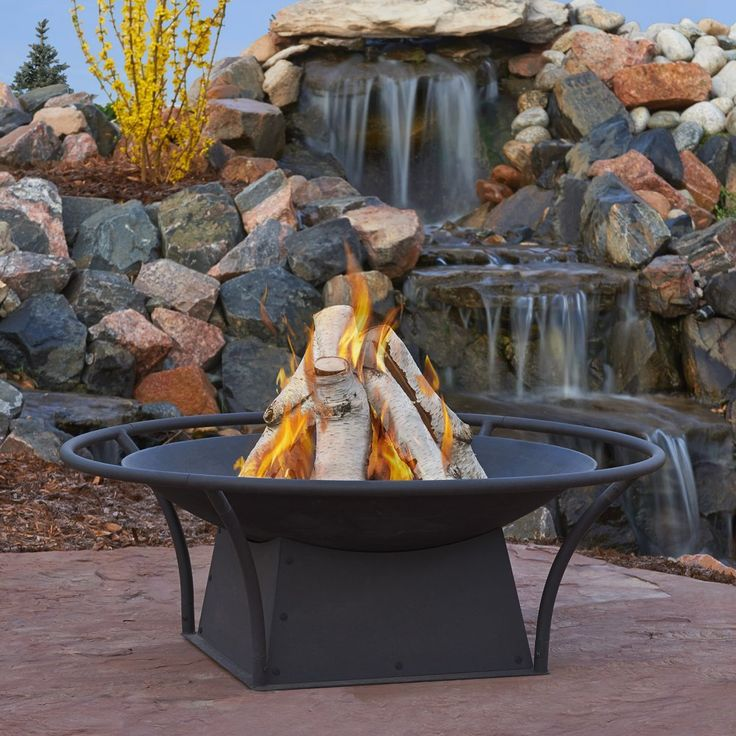Real Flame 915-BLK Parker Wood Burning Fire Pit, Small, Black