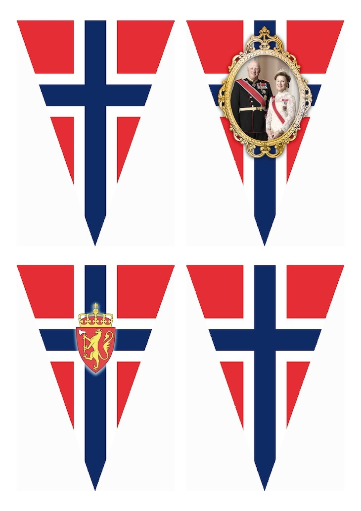 Wings of Whimsy: FREE Printable Norwegian National Day Flag Banner - free for personal use #printable #bunting #garland