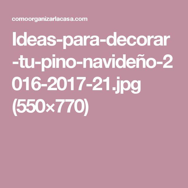Ideas-para-decorar-tu-pino-navideño-2016-2017-21.jpg (550×770)