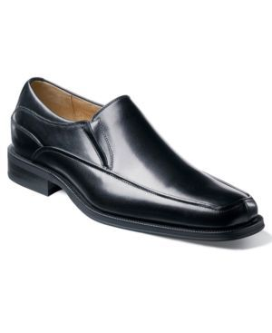 Florsheim Corvell Moc Toe Slip-On Loafers - Black 10.5EW