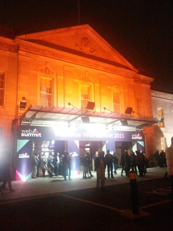 night time at the web summit, long and great day #websummit
