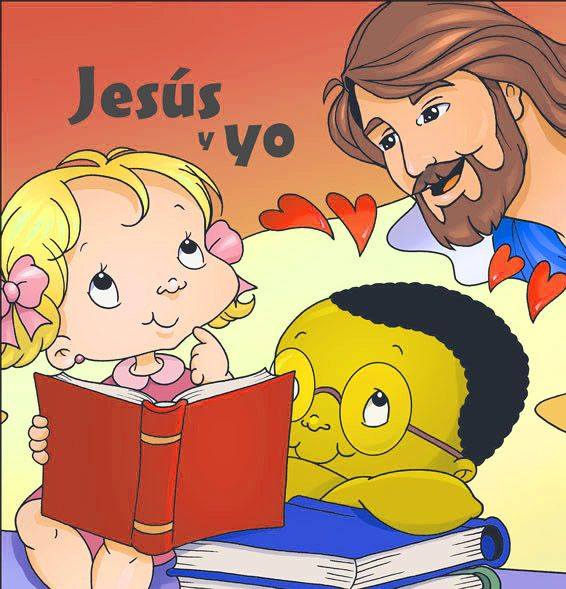 dibujos de Jesús con niños orando