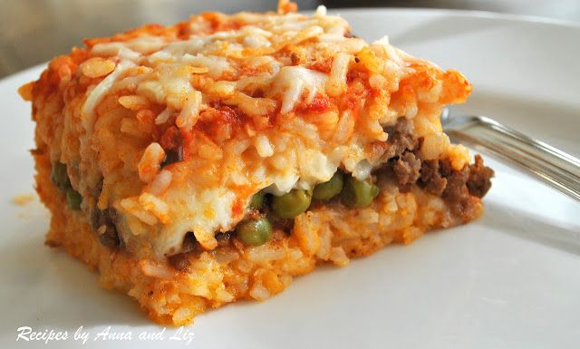 2 Sisters Recipes... Best Rice Ball Casserole Stuffed with Meat and Peas