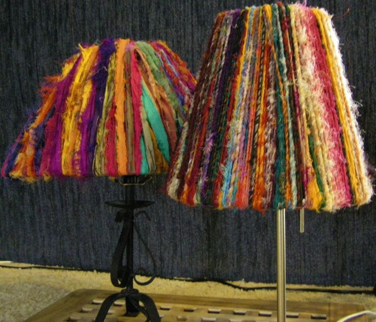 sari ribbon lamp shade 003