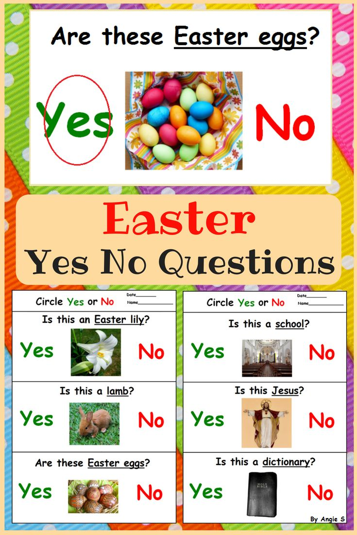 Easter Activity for Kindergarten, preschool and students with autism, great to target basic yes/no questions. #easter #easterbunny #autism #specialneeds #sped #tpt #teacherspayteachers For more resources follow https://www.pinterest.com/angelajuvic/autism-and-special-education-resources-angie-s-tpt/