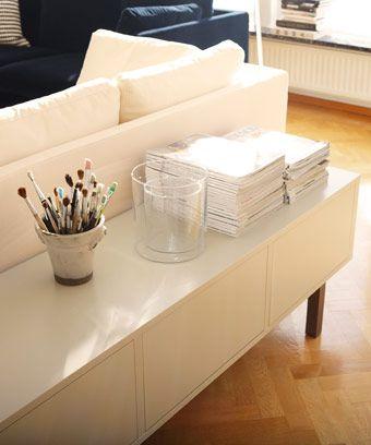stockholm tv bank in beige mit beinen aus massiver esche ikea stockholm kollektion. Black Bedroom Furniture Sets. Home Design Ideas