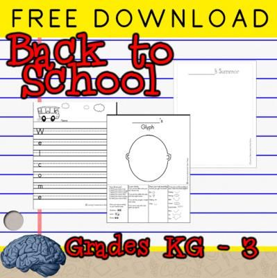 Free Back to School Worksheets | Glyph, Acrostic, Drawing from Selma Dawani on TeachersNotebook.com -  (4 pages)  - FREE -- Back to School Glyph 2 Acrostic Poems and ___'s Summer sheet to create a class book of summer memories