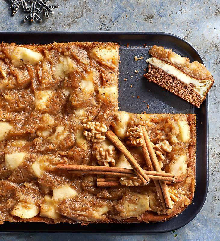 Świąteczny sernik z karmelizowanymi jabłkami #lidl #przepis #sernik #święta #jabłka