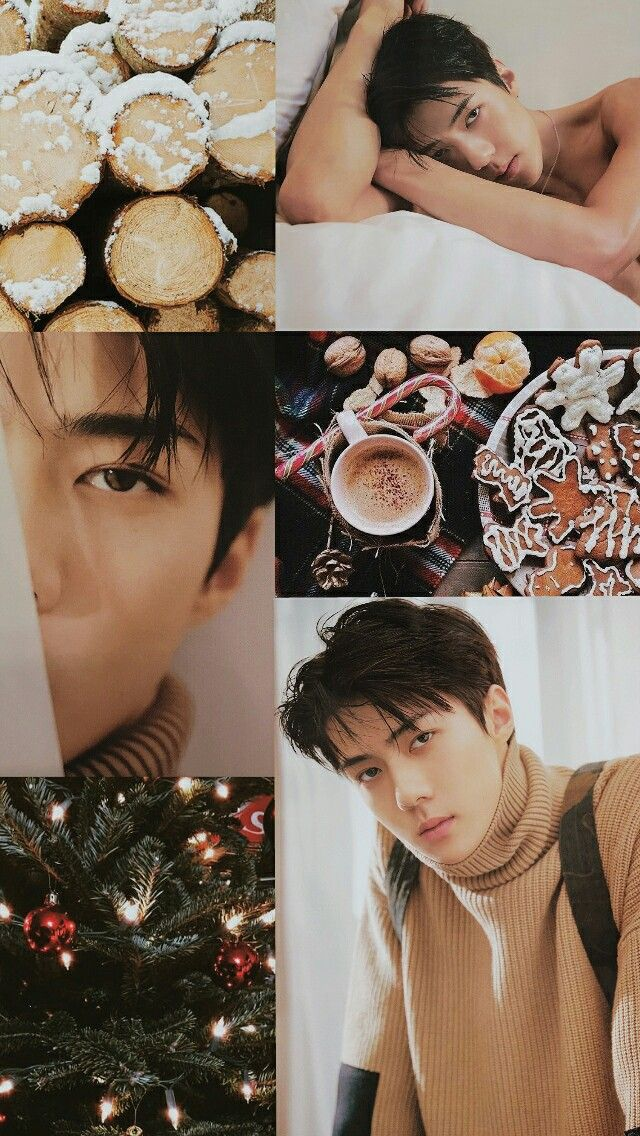 hellow im back. i made this during christmas eve for my only love sehuna!  i hope u guys like it #ohsehun #sehun #exo #aesthetic #lockscreen