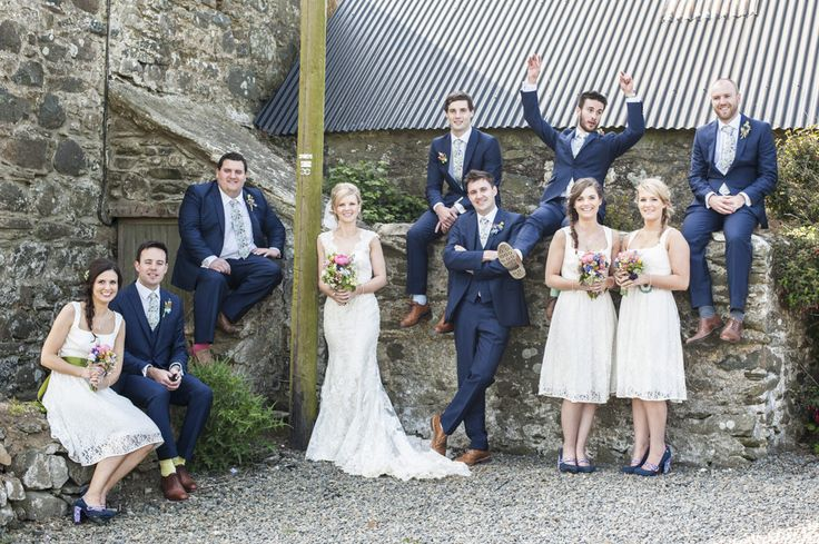 Image by Eleanor Jane Wedding Photography - A colourful Welsh DIY outdoor Tipi wedding with bridesmaid dresses from monsoon, bright colour scheme and DIY decor