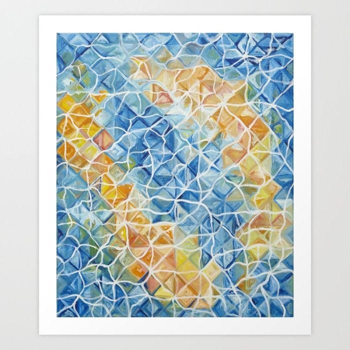 Fishes, www.artoutloop.com #fishes, #sea, #riples, #blue, #oil, #art, #experemet