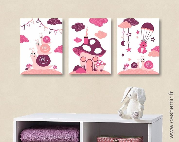Les 115 meilleures images propos de d coration chambre b b sur pinterest - Poster chambre fille ...