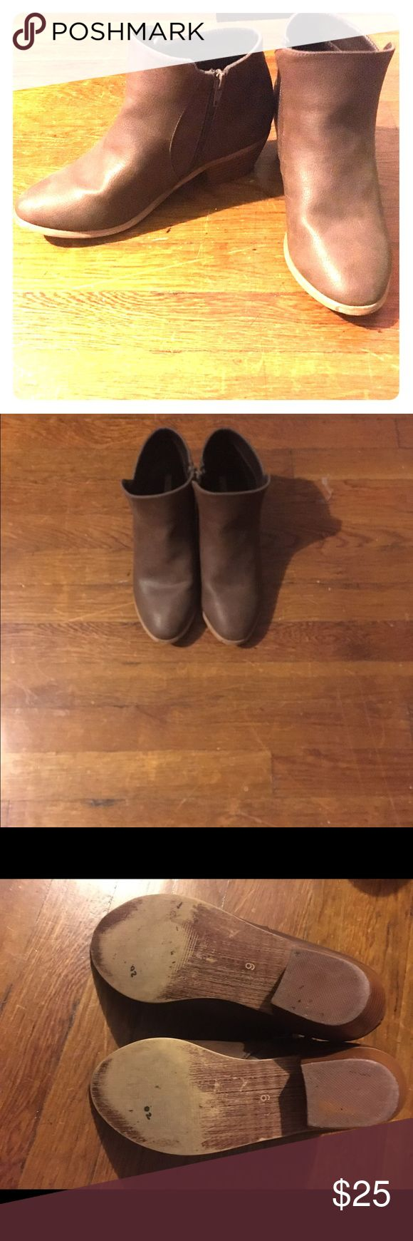 Ecote short ankle boots Short brown ankle boots. Gently worn, but still in great condition. Ecote Shoes Ankle Boots & Booties