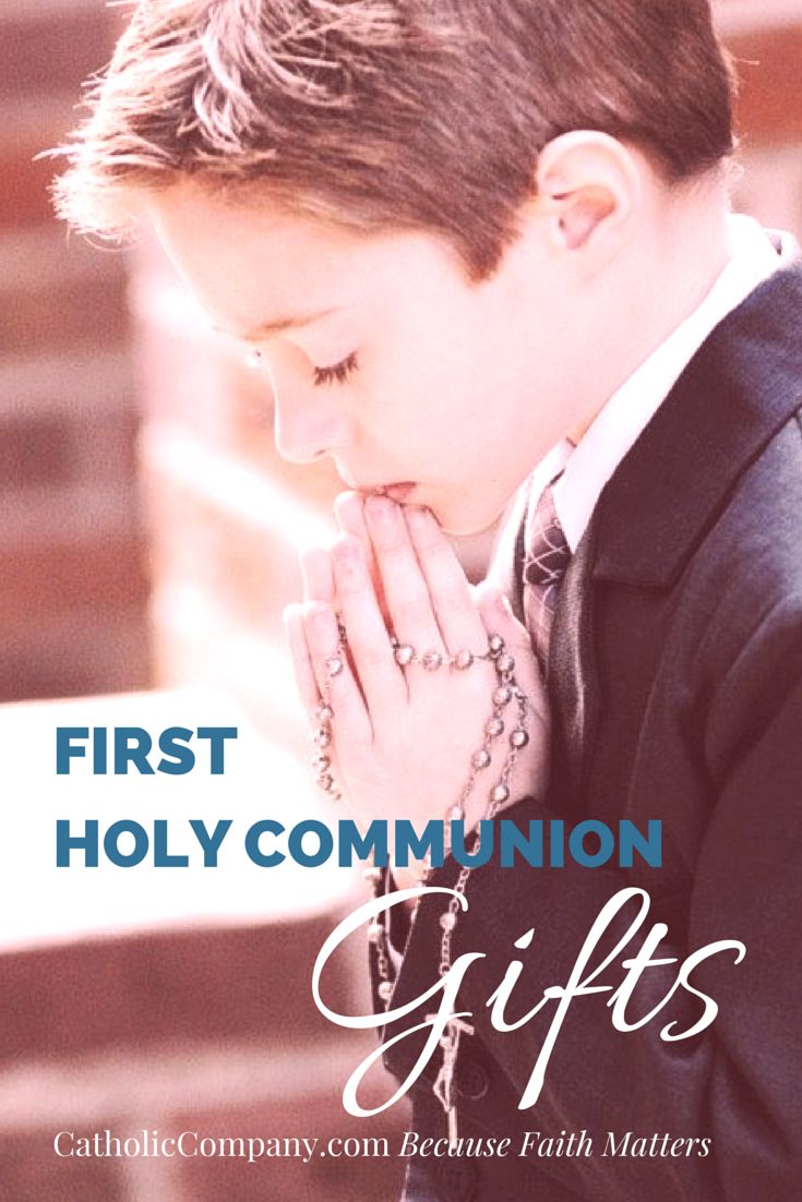 First Holy Communion is one of the 3 Sacraments of Initiation into the Catholic Church, between Baptism and Confirmation. For the first time a child will receive the body and blood of Jesus Christ really present in the Consecrated Host. What a gift! The sacred occasion should be celebrated and remembered with a lasting keepsake.